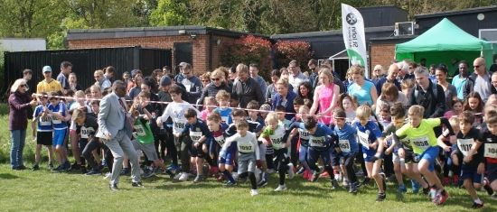 The Start of the Radlett Fun Run 2019