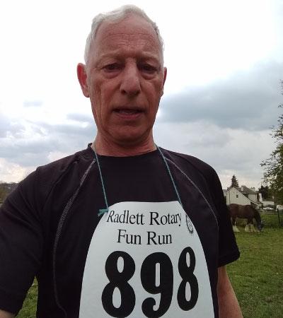 Simon - one of this year's Radlett Fun Run competitors